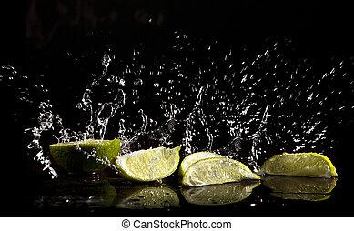 vatten, plaska, lindar