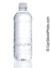 vatten, rena, flaska