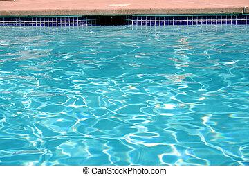 vatten, slå samman, simning