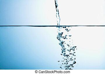 vatten, spring