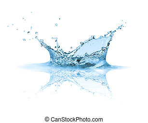 vatten, stänk
