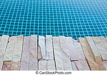vatten, sten, slå samman, simning