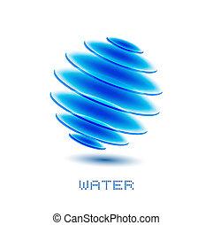 vatten, symbol