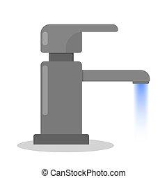 vatten, tap., tool., kran, badrum, kök