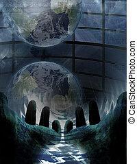 vatten, värld