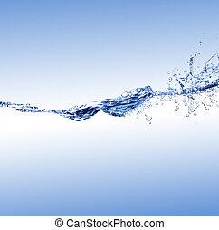 vatten, våg