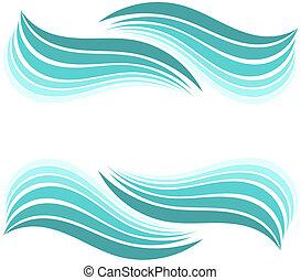 vatten, vågor