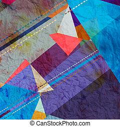 vattenfärg, abstrakt, bakgrund