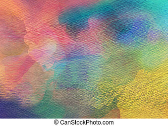 vattenfärg, bakgrund., abstrakt