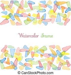 vattenfärg, banners.