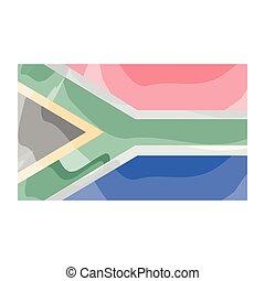 vattenfärg, flagga, afrika, syd