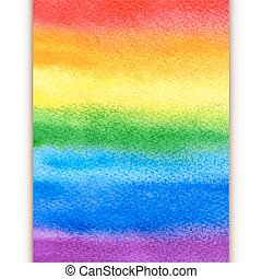 vattenfärg, regnbåge, bakgrund