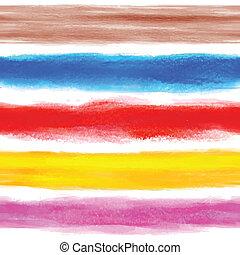 vattenfärg, regnbåge, bakgrund, med, någon, stripes