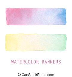 vattenfärg, set., baner, lutning
