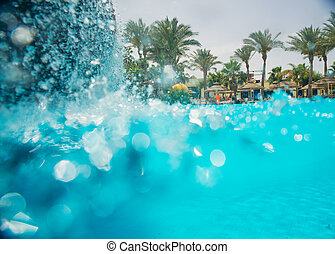 vattenfall, slå samman, simning
