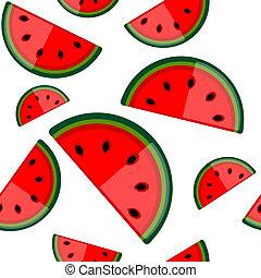 vattenmelon, design, seamless, bakgrund, din