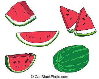 vattenmeloner, sätta