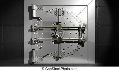 Vault door open with alpha matte