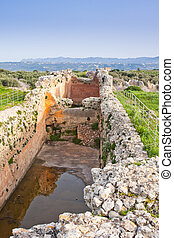 Vaulted Cistern, period of Roman occupation at Ancient...