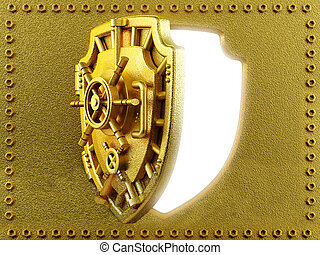 ... Vaulted door with shield shape - Gold vaulted door with. & Vaulted door Illustrations and Stock Art. 4191 Vaulted door ...