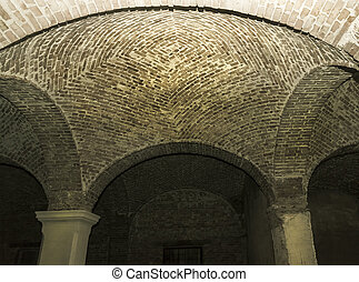 Vaulting - Beautiful old brick arches of an old abandoned...