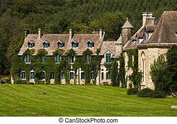 Vaux de Cernay abbey in Chevreuse Valley, France