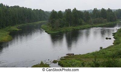 Vazhinka river, Russia - Vazhinka river, the border of the...