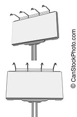 vazio, anúncio, hoarding, billboard, ., isolado
