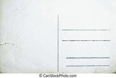 vazio, antigas, fundo, isolado, cartão postal, branca