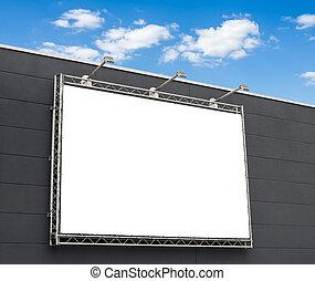 vazio, billboard, com, espaço cópia