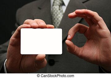 vazio, cartão de visita