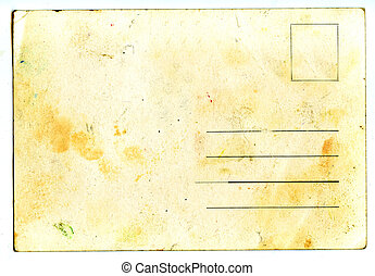 vazio, cartão postal, antigas