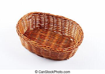 vazio, cesta feito vime