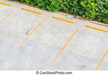 vazio, estacionamento