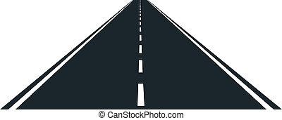 vazio, estrada