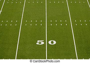 vazio, futebol americano, campo