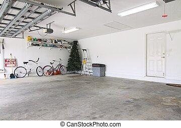 vazio, garagem