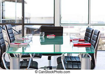 vazio, incorporado, sala, reunião
