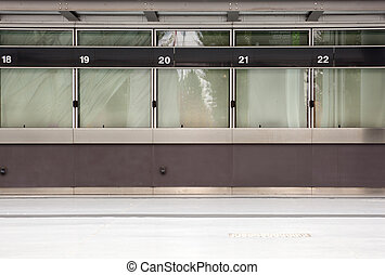 vazio, janela bilhete