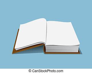 vazio, livro, ilustração