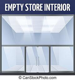 vazio, loja, interior