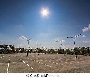 vazio, lote estacionando