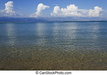 vazio, praia, em, a, dia verão