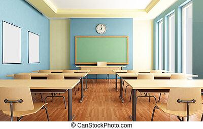 vazio, sala aula