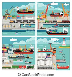 Vbanners with sea transport - Banners with sea transport for...