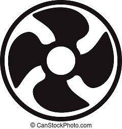 vcentilator fan propeller vector symbol icon