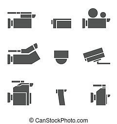 vdo camera icon set