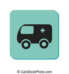 veículo, ambulância, emergência, ícone