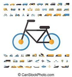 veículo, jogo, transporte, ícone