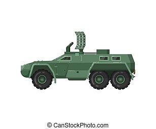 veículo, modernos, isolado, ícone, blindado